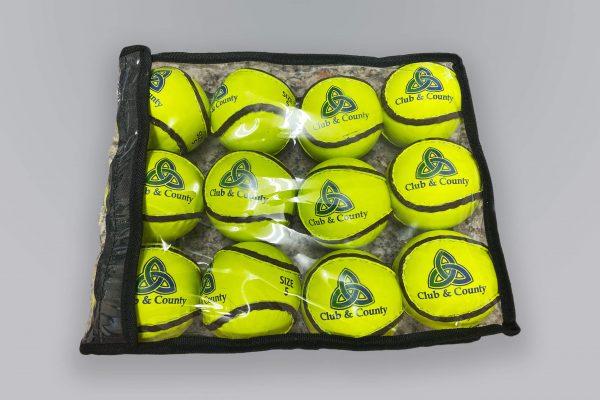 Yellow Match Sliotars set